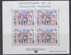 TAAF 1989 French Revolution / Revolution Francaise M/s ** Mnh (42876) - Blocs-feuillets