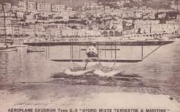 AVIATION / MONACO / AEROPLANE CAUDRON TYPE G 3 HYDRO MIXTE TERRESTRE ET MARITIME - Monaco