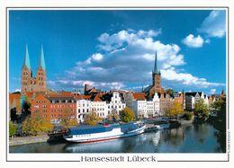 1 AK Germany * Kirchen St. Marien Und St. Petri In Lübeck - Seit 1987 UNESCO Weltkulturerbe Und MS Mississippi * - Luebeck