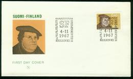 FD Finland FDC 1967 MiNr 629   450th Anniv Of The Reformation, Martin Luther - Finlandia