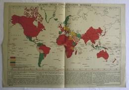 QUADRO DELLA CONFLAGRAZIONE MONDIALE, 1° Guerra Mondiale 1914/1918 - OTTIMO RVS-4 - Carte Geographique