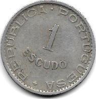 *CAPE VERDE 1 ESCUDO 1949  KM 7  VF+ - Cabo Verde