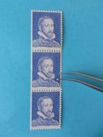 ROULETTE PALISSY No: 8e , Bande De 3 Avec No: Rouge 950 , Avec IMPRESSION RECTO-VERSO,timbres En Bon état - Rollo De Sellos
