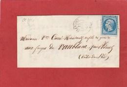 Plancoët (Côtes D'Armor) GC 2874 Sur N°22 LAC  - Bureau De Passe Rennes 3112 - 1849-1876: Période Classique