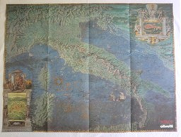 Riproduzione CARTA D'ITALIA DEL '500 (Olivetti) Di Egnazio Danti, Vaticano Sala Delle Carte Geografiche - OTTIMA RVS-4 - Carte Geographique