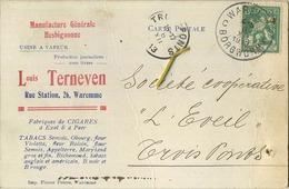 WAREMME :  Louis Terneven  :  Usine A Vapeur  - Manufacture Générale Hesbignonne   1913    ( 2 Scans ) - België