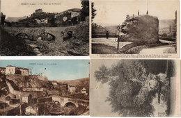 VEBRON - 4 CPA - Le Rocher Des Fées - L' Orme Séculaire - Le Pont Sur Le Tarnon - Vue Générale  (114157) - France