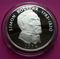 PANAMA 20 BALBOAS 1974 - SIMON BOILVAR / Silver - Panama