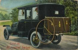 Salut De MORESNET BELGE :  Carte A Système     ( 2 Scans )   Old Car - België