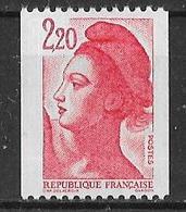 Roulette  Bande Pliée De 20 TP Liberté 2 F. 20  Dont 4 Avec N° Rouge 115/120/125/130 Y&T N° 2379 ** Neuf Luxe (TB). - Coil Stamps