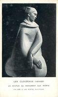 Cpsm LES CLOUZEAUX 85 La Statue Du Monument Aux Morts - Par Joël Et Jan MARTEL Sculpteurs - France
