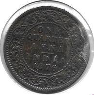 * Britisch India  1/4 Anna   1876c Km 467 - Inde