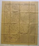 Antica CARTA DELL'AFRICA ORIENTALE, Suppl. Allegato Al Mattino Illustrato, Anni '30 - OTTIMA RVS-4 - Carte Geographique