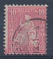 """HELVETIA - Mi Nr 38 - Cachet """"LA CHAUX-DE-FONDS"""" - (ref. 1353) - 1862-1881 Helvetia Assise (dentelés)"""