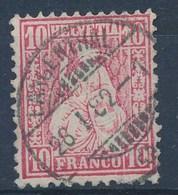 "HELVETIA - Mi Nr 38 - Cachet ""LANGENTHAL"" - (ref. 1354) - 1862-1881 Helvetia Assise (dentelés)"