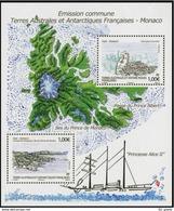 TAAF 2012   N° F630    ** Neuf MNH   émission Commune Avec   Monaco - Blocs-feuillets