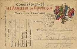 Correspondance Des Armées De La Republique Carte En Franchise SP 91 Vers Le Mas D'Agenais Lot Et Gar   Recto Verso - Militaria