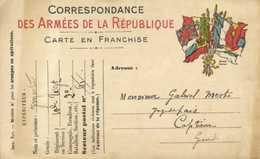 Correspondance Des Armées De La Republique Carte En Franchise 10e Rrg 2e Compagnie SP 61 Vers Captieux Gironde RV - Militaria