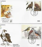 "KOSOVO /KOSOVA REPUBLIC -EUROPA 2019 -NATIONAL BIRDS.-""AVES -BIRDS -VÖGEL -OISEAUX""- 2 FDC'S : SERIE + BF - 2019"