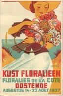 Oostende : Kust Floralieen  1937   ( M. Moniquet ) - Oostende