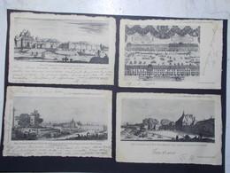 Lot 4 Cartes Postales La Lorraine Illustrée XVIIème Siècle (2771) - Non Classés