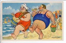 Cpa Carte Postale Ancienne  - Humour Plage - Y A De La Joie - Gaby - Humour