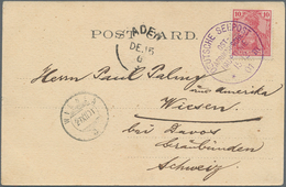 """Aden: 1901, Picture Card From ADEN Franked With 10 Pfg. Germania Reichspost Tied By Superbe Strike """" - Yemen"""