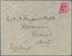 """Aden: ADEN-DTHALI 1903: """"EXPERIMENTAL/B-84/MA 28/03"""" Cds (Proud D1) Tying India KEVII. 1a. To Cover - Yemen"""
