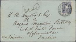 Afghanistan: 1880, Envelope (backflap Faults) Written From Germany Bearing Yvert 33, 20 Pfge. Blue T - Afghanistan