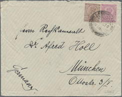 Afghanistan: 1928, 9.2. Letter To Munich With Double Franking Afghanistan And 1 Anna KE VII Two Stam - Afghanistan