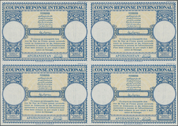 Afghanistan - Ganzsachen: 1958. International Reply Coupon (London Type) In An Unused Block Of 4. Is - Afghanistan