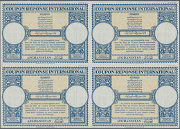Afghanistan - Ganzsachen: 1959. International Reply Coupon (London Type) In An Unused Block Of 4. Is - Afghanistan