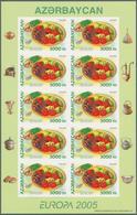 "Aserbaidschan (Azerbaydjan): 2005, Europe CEPT - FOOD. Complete Set Of Two Values; 1,000 M ""Pilaf"" A - Azerbeidzjan"