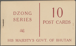Bhutan: 1967/1968: Two Complete 'His Majesty's Govt. Of Bhutan' Booklets Each With 10 Post Cards Of - Bhutan
