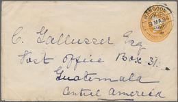 "Birma / Burma / Myanmar: 1894, Indian 2 Anna And Half Pie Stationery Envelope Used From ""RANGOON 3-3 - Myanmar (Burma 1948-...)"