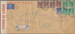 Birma / Burma / Myanmar: 1942. Registered Air Mail Envelope Addressed To India Bearing Burma SG 20, - Myanmar (Burma 1948-...)