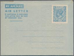 Birma / Burma / Myanmar: 1946 Unused And Preprinted Aerogram 6As Pale Blue On White, Inside With Lon - Myanmar (Burma 1948-...)