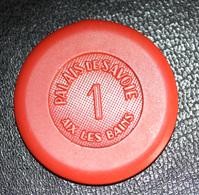 """Jeton Casino / Cercle De Jeux """"1 (franc) Palais De Savoie - Aix-les-Bains"""" - Casino"""