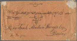 "Hongkong - Treaty Ports: Canton, 1853, Red ""CANTON / PAID"" On Cover W. On Reverse ""CANTON 9 NO 53"" A - Hong Kong (...-1997)"