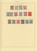 Hongkong - Treaty Ports: Canton, 1862/1920 (ca.), QV-KGV Study Of Postmarks On Pages, Inc. C1 (2), S - Hong Kong (...-1997)