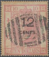 "Hongkong - Treaty Ports: Shanghai, 1882, Postally Used Fiscals,12 C./$10 Canc. Oval Bar ""S1"" (SG Z88 - Hong Kong (...-1997)"