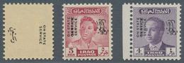 Irak: 1948-60 OVERPRINT VARIETIES: Seven Stamps Showing Various Varieties Of Their Overprint, With 1 - Irak