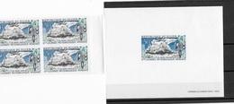 """Niger  Epreuve  De Luxe  """"9 ème Journée Météorologique N° 105 En Bloc De 4 Non Dentelé - Unused Stamps"""