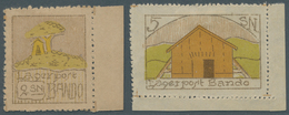 Lagerpost Tsingtau: 1918, Lagerpost Stamps 2 S., A Right Margin Cop. And 5 S. , A Right Corner Margi - Kantoren In China