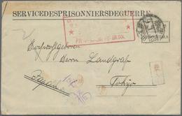 Lagerpost Tsingtau: Ninoshima, 1920, Preprinted Camp Envelope Type V With Boxed Red Ninoshima Camp S - Kantoren In China