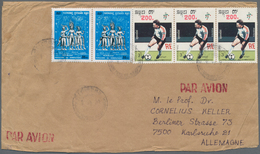 """Kambodscha: 1990, 200 On 3r. """"Football World Cup"""" Horizontal Strip Of Three In Combination With Four - Kambodscha"""