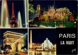 Paris - Paris La Nuit: La Tour Eiffel, Notre Dame, L'arc De Triomphe, La Place De La Concorde - Paris Bei Nacht