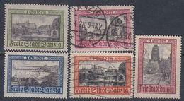 Dantzig N° 191 + 195 X + 192+194 O + 196 Sg,Partie De Série : Les 5 Vals Trace De Ch., Ss Gomme Ou Oblitérées, Sinon TB - Autres - Europe