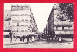 F-92-Neuilly Sur Seine-09A18  Place Du Marché Et Rue De Sablonville, Animation, Verso Pub Chicorée, Cpa BE - Neuilly Sur Seine