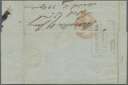 """Philippinen: 1848, """"SINGAPORE 14.Februar/Bearing."""", Postmark In Black To Reverse To Folded Letter Wi - Philippinen"""